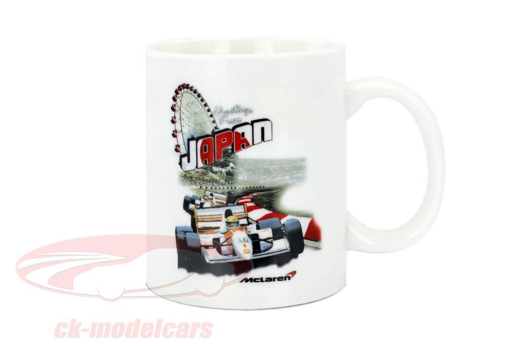 McLaren Greetings from Japan Ayrton Senna F1 1993 Cup White