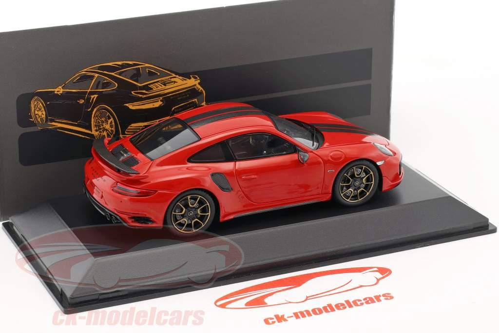 Porsche 911 (991) Turbo S esclusive serie rosso metallico 1:43 Spark