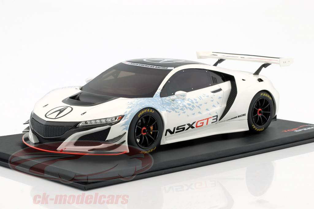 Acura NSX GT3 Presentation Car New York auto Show 2016 white 1:18 TrueScale