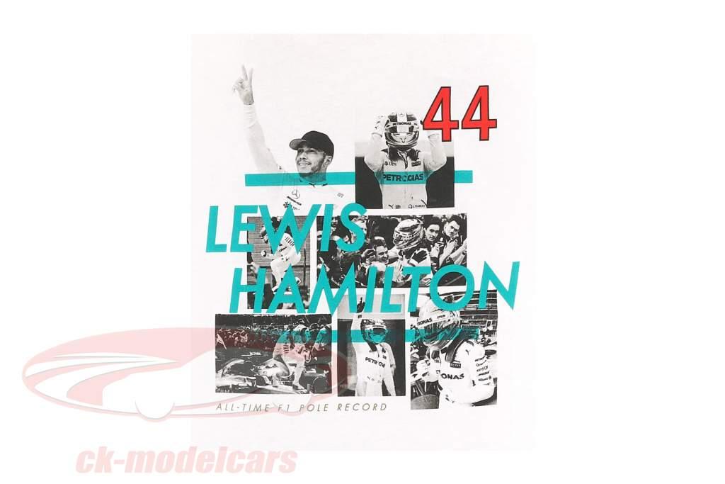 L. Hamilton Mercedes AMG Petronas F1 Team Pole position world Record F1 2017 T-shirt white