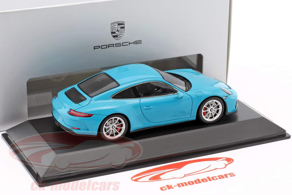 Porsche 911 (991 II) GT3 Touring Package 2017 Miami blue 1:43 Spark