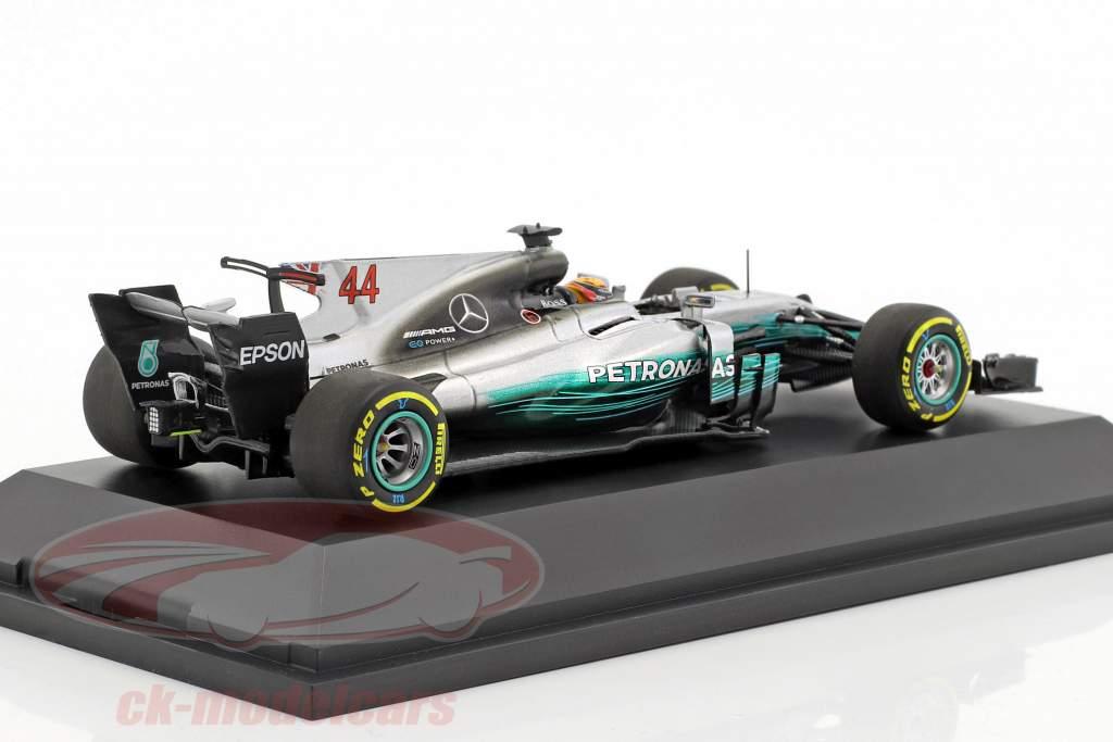 Lewis Hamilton Mercedes F1 W08 EQ Power  #44 World Champion Formel 1 2017 1:43 Minichamps