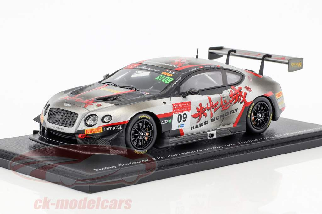 Bentley Continental GT3 #09 China GT Championship 2017 Geng, Imperatori 1:43 Spark