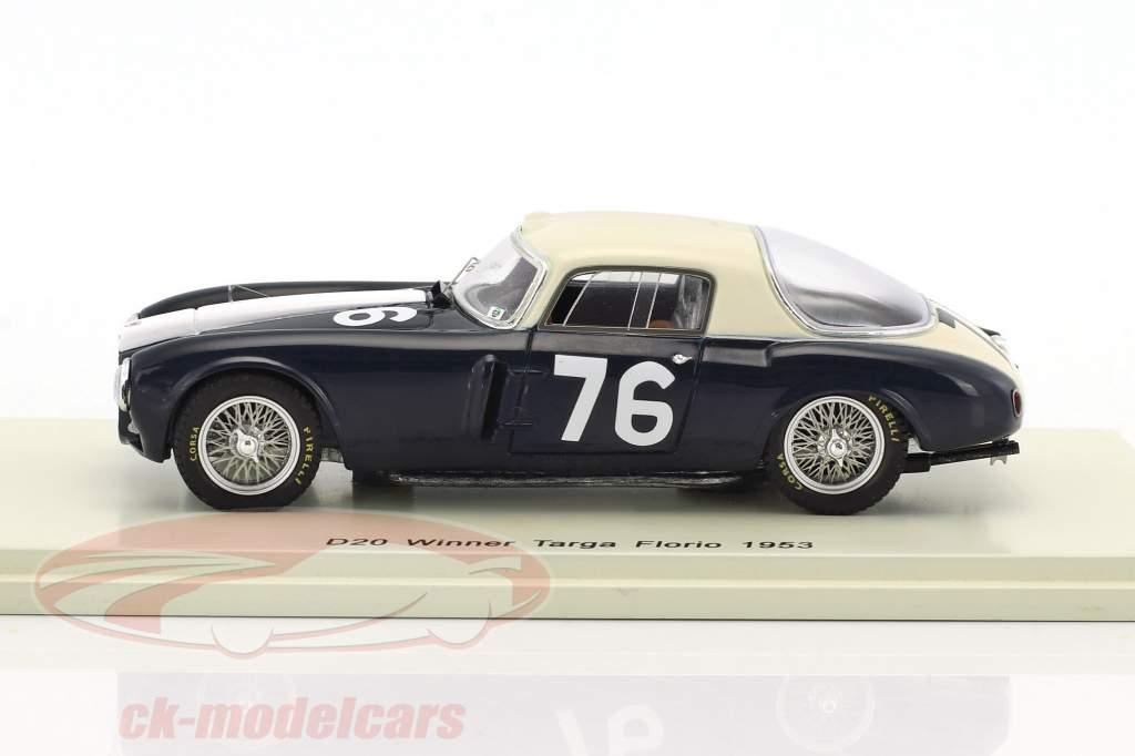 Lancia D20 #76 Winner Targa Florio 1953 Umberto Maglioli 1:43 Spark