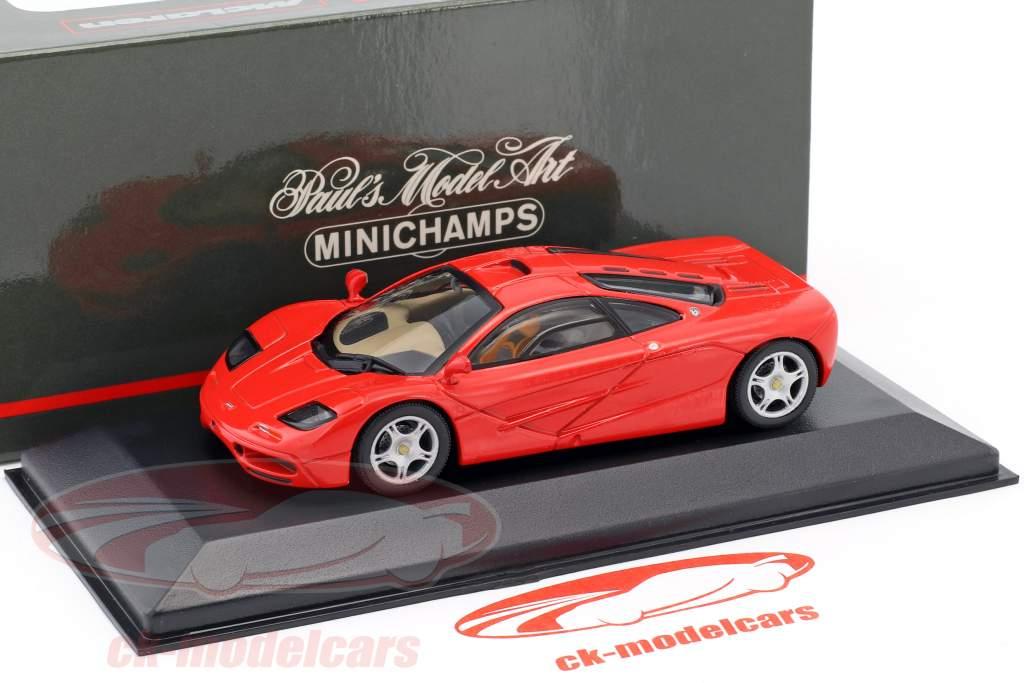 McLaren F1 roadcar red 1:43 Minichamps