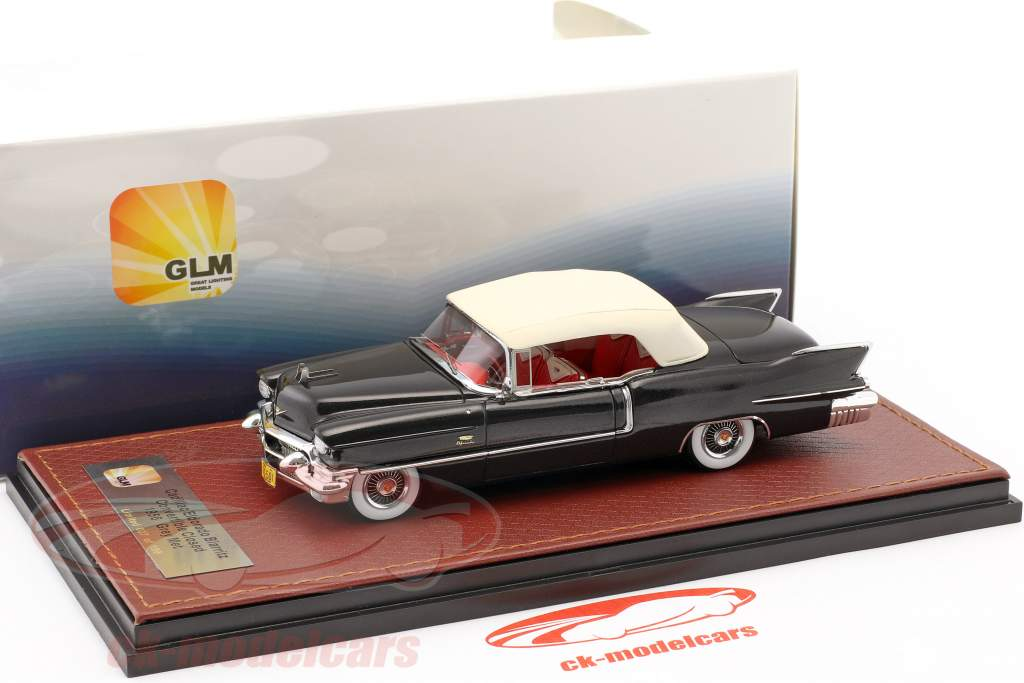 Cadillac Eldorado Biarritz convertible Closed Top année de construction 1956 sombre gris métallique / blanc 1:43 GLM