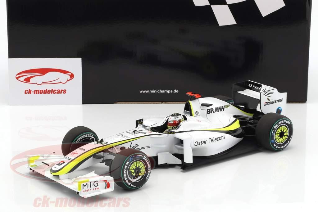 Jenson Button Brawn BGP 001 #22 champion du monde formule 1 2009 1:18 Minichamps