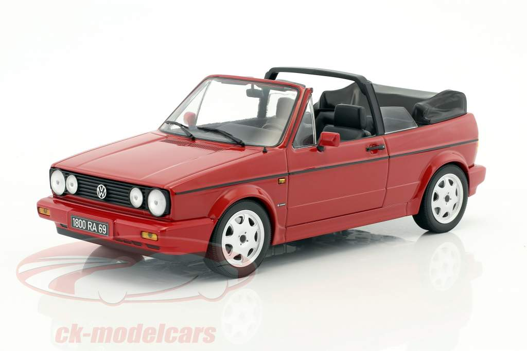 "Volkswagen VW Golf I Cabriolet ""Erdbeerkörbchen"" year 1992 red 1:18 Norev"