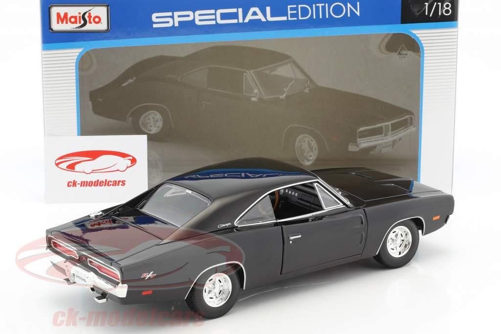 Dodge Charger R/T Baujahr 1969 schwarz 1:18 Maisto