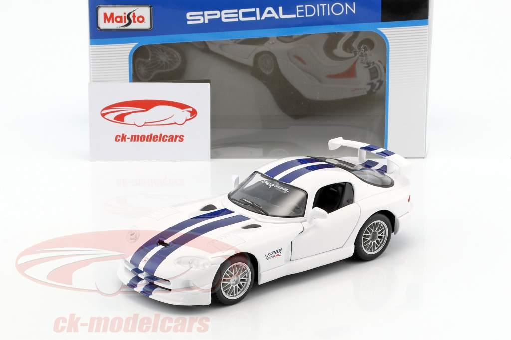 Dodge Viper GT2 weiß / blau 1:24 Maisto