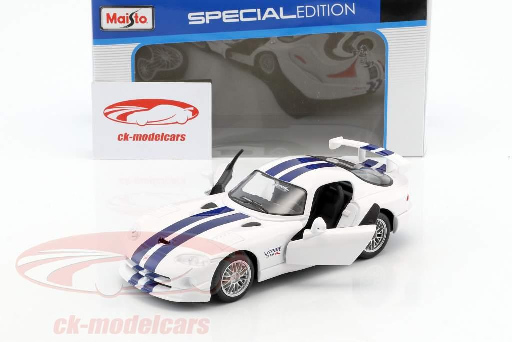 Dodge Viper GT2 blanc / bleu 1:24 Maisto