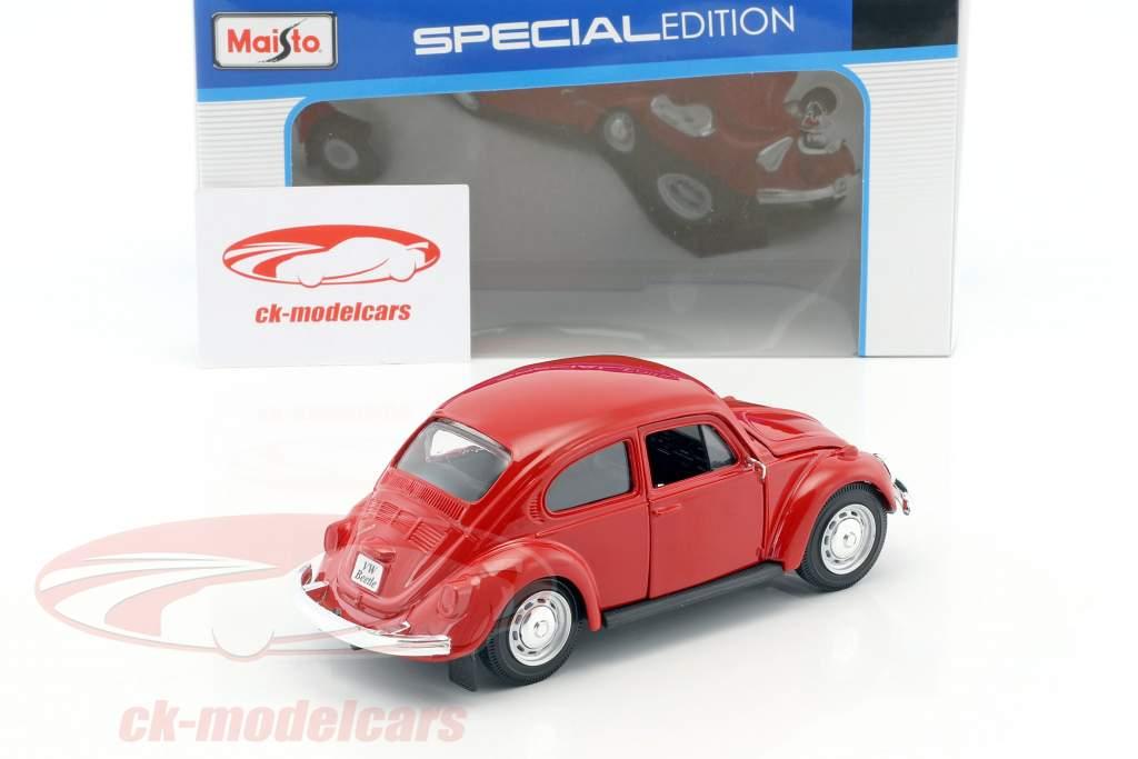 Volkswagen VW Beetle year 1973 red 1:24 Maisto