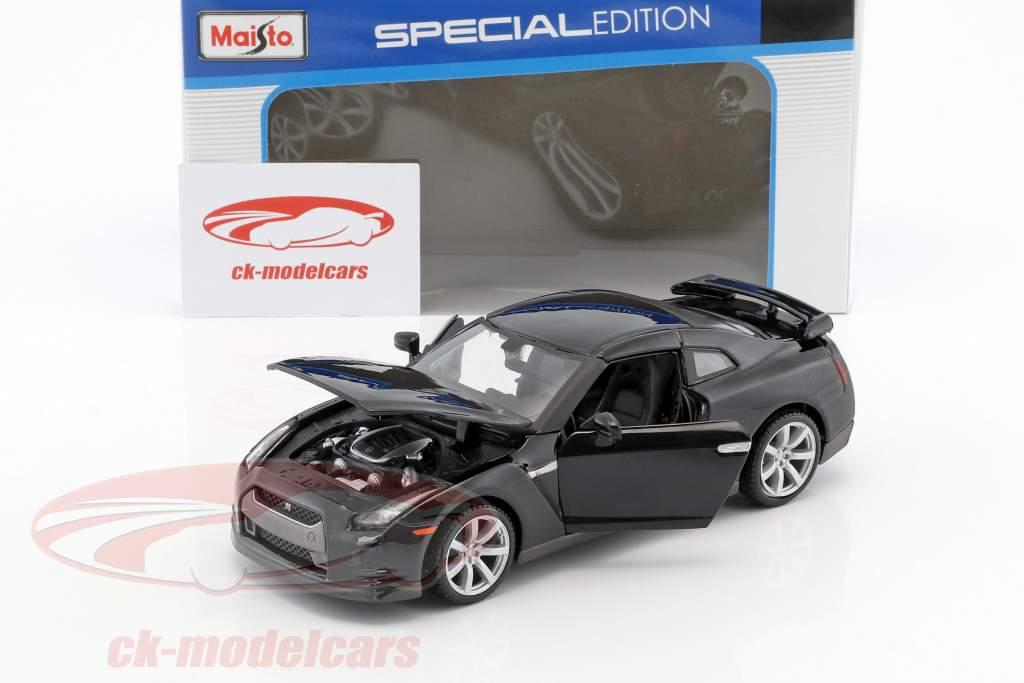 Nissan GT-R (R35) ano de construção 2009 preto 1:24 Maisto