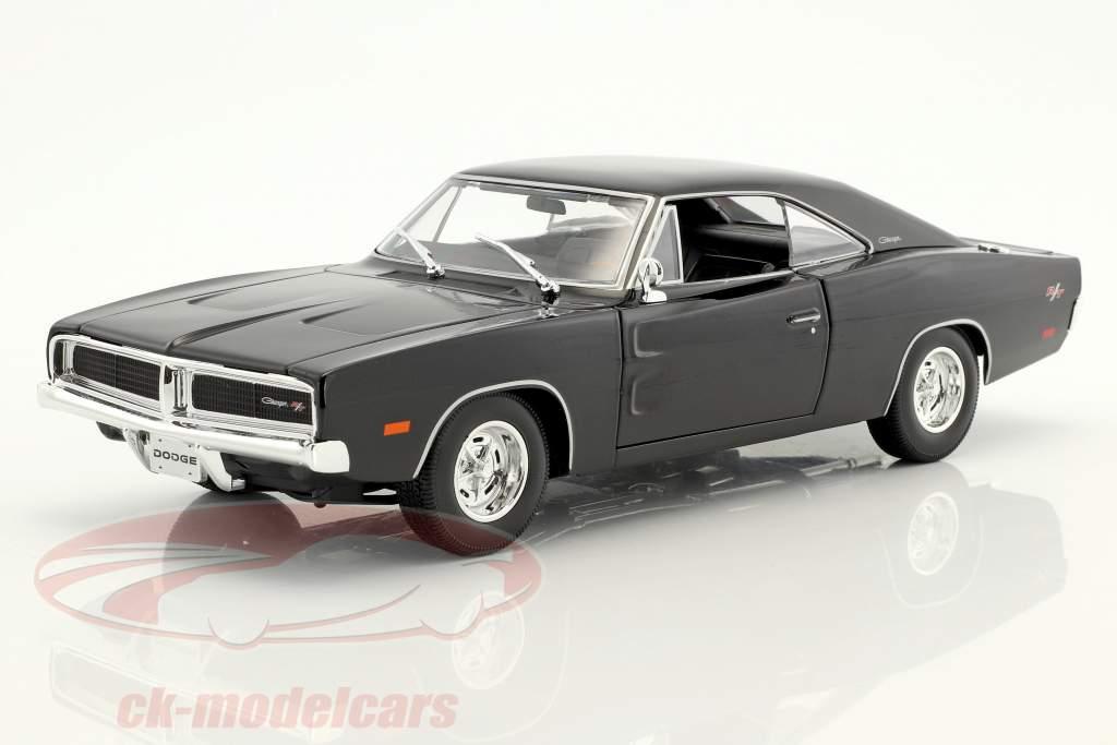 Dodge Charger R/T año de construcción 1969 negro 1:18 Maisto