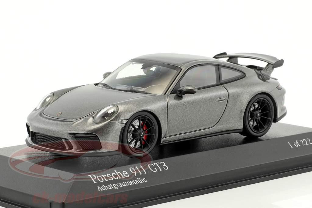 Porsche 911 (991 II) GT3 an 2017 agate gris métallique 1:43 Minichamps