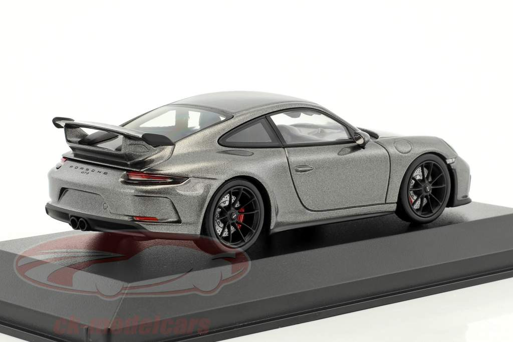 Porsche 911 (991 II) GT3 year 2017 agate grey metallic 1:43 Minichamps