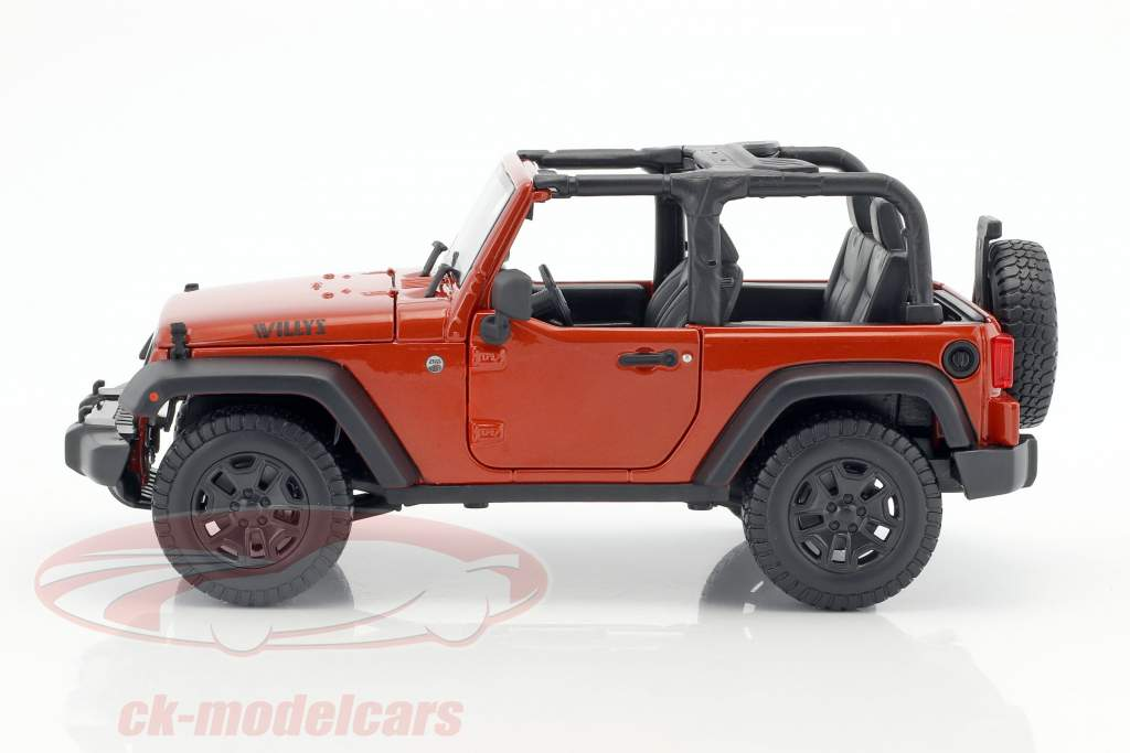 2014 Jeep Wrangler Maisto 31610 1:18 Die Cast Metallic Kupfer