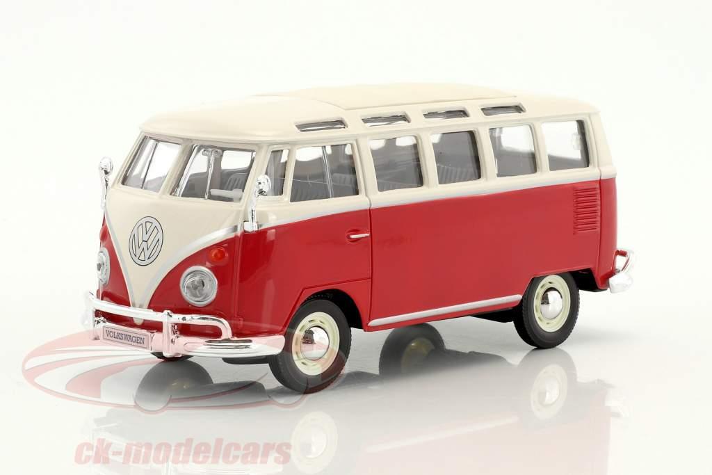 Volkswagen VW Samba autobús rojo / blanco 1:24 Maisto