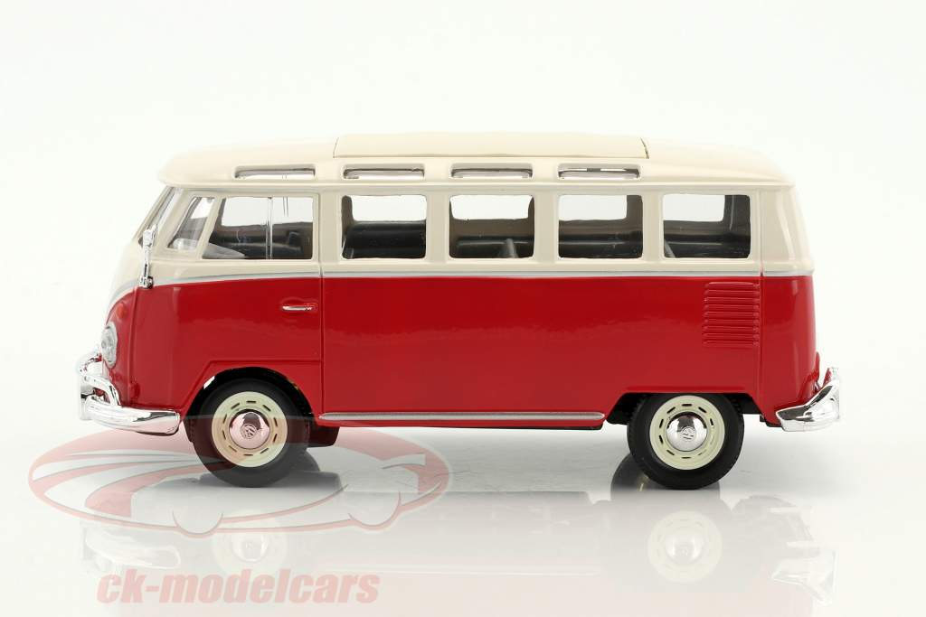 Volkswagen VW Samba bus red / white 1:24 Maisto