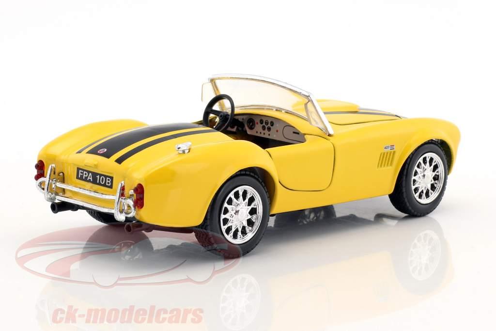 Shelby Cobra 427 year 1965 yellow / black 1:24 Maisto