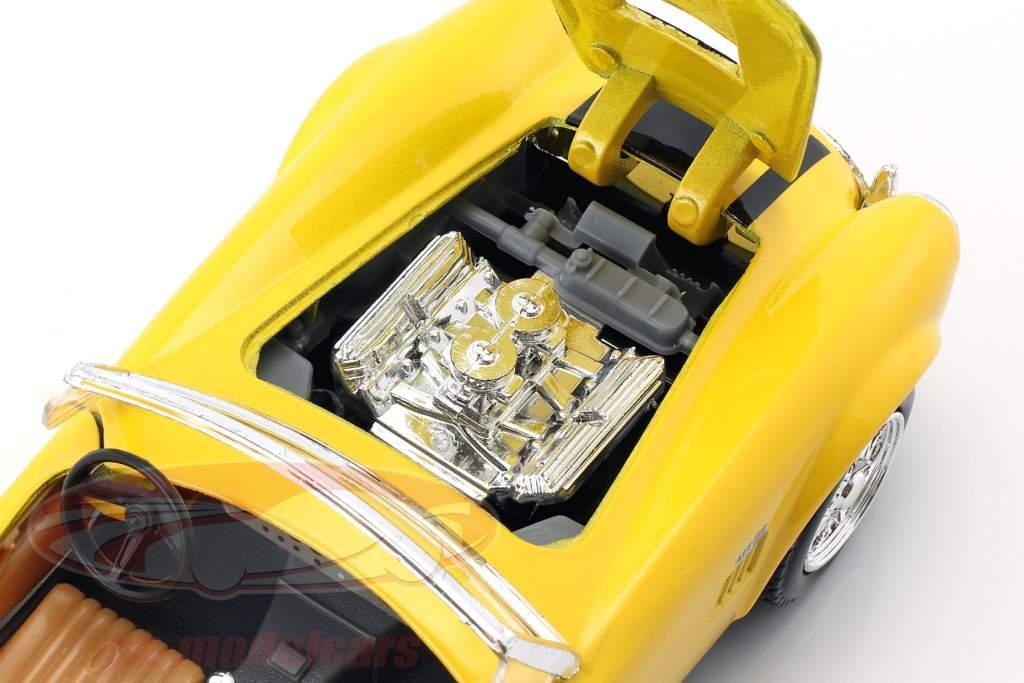 Shelby Cobra 427 anno 1965 giallo / nero 1:24 Maisto