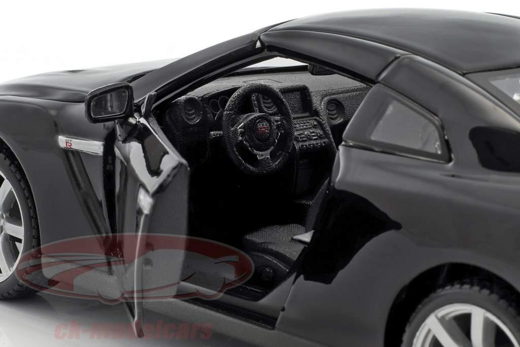 Nissan GT-R (R35) année 2009 noir 1:24 Maisto