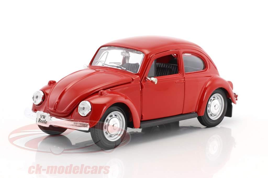 Volkswagen VW Beetle jaar 1973 rood 1:24 Maisto