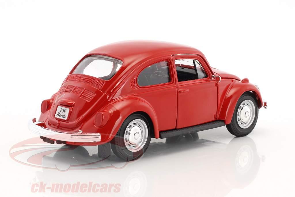 Volkswagen VW Beetle anno 1973 rosso 1:24 Maisto