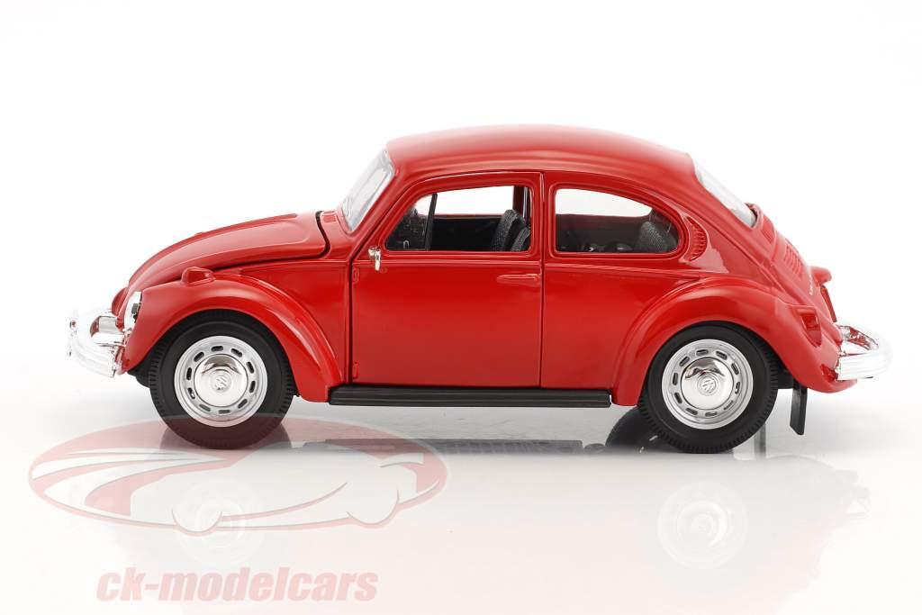Volkswagen VW Beetle an 1973 rouge 1:24 Maisto