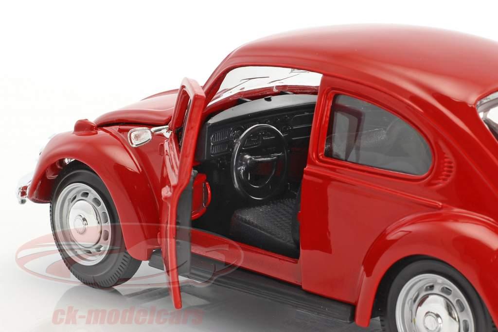 Volkswagen VW Beetle år 1973 rød 1:24 Maisto