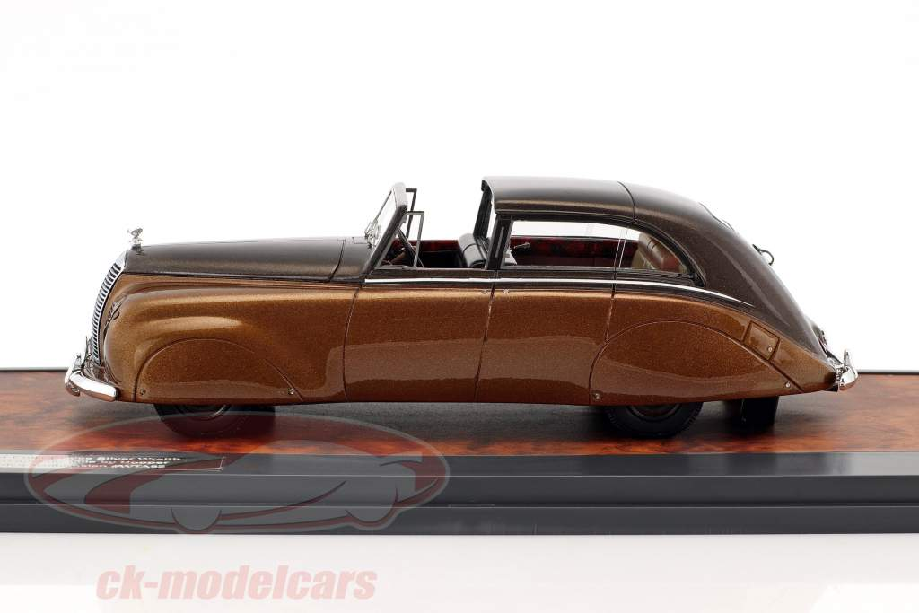 Rolls Royce Silver Wraith Sedanca de Ville by Hooper Construction year 1947 brown metallic 1:43 Matrix