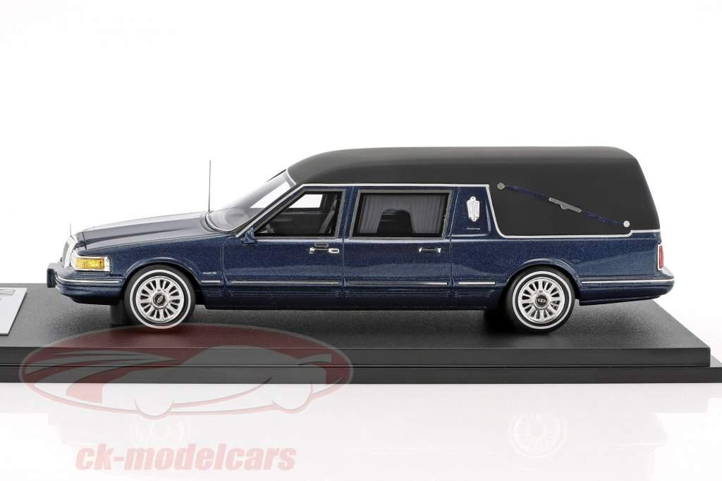 Lincoln Town Car Leichenwagen Baujahr 1997 blau metallic 1:43 GLM