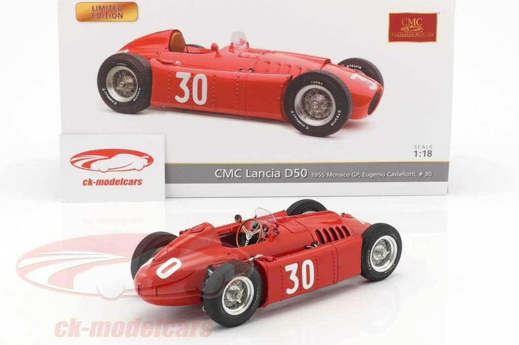 Lancia D50 #30 2 Monaco GP formule 1 1955 Eugenio Castellotti 1:18 CMC