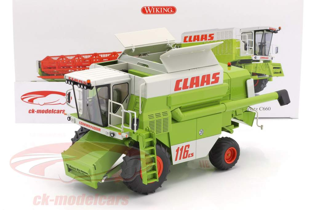 Claas Commandor 116 CS Mähdrescher grün / weiß / rot 1:32 Wiking