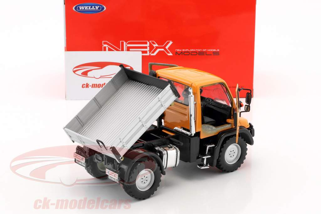 Mercedes-Benz Unimog orange / grau / schwarz 1:32 Welly