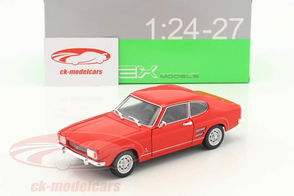 Ford Capri año de construcción 1969 rojo 1:24 Welly