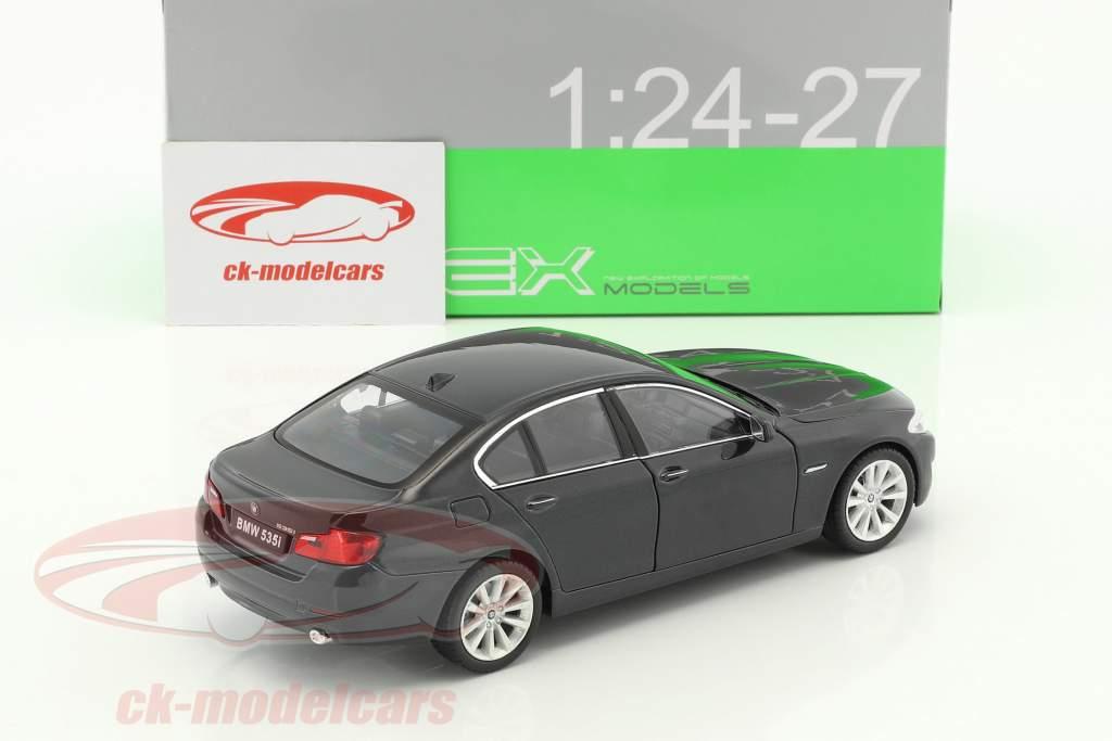 BMW 535i année de construction 2010 noir métallique 1:24 Welly