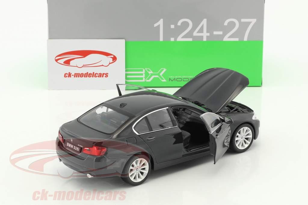 BMW 535i year 2010 black metallic 1:24 Welly
