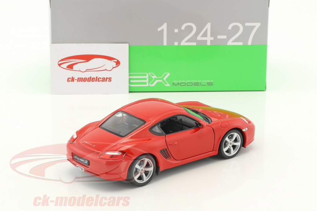 Porsche Cayman S Baujahr 2006 rot 1:24 Welly