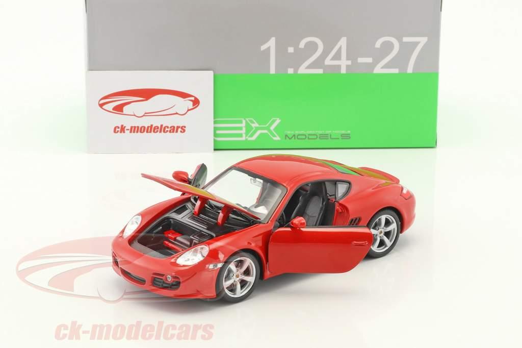 Porsche Cayman S year 2006 red 1:24 Welly