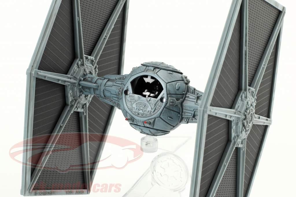 Tie Fighter Star Wars V The Empire strikes back (1980) noir / argent bleu 1:18 HotWheels Elite