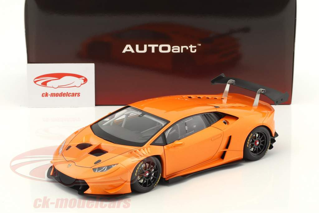 Lamborghini Huracan LP620-2 Super Trofeo Baujahr 2016 orange metallic 1:18 AUTOart