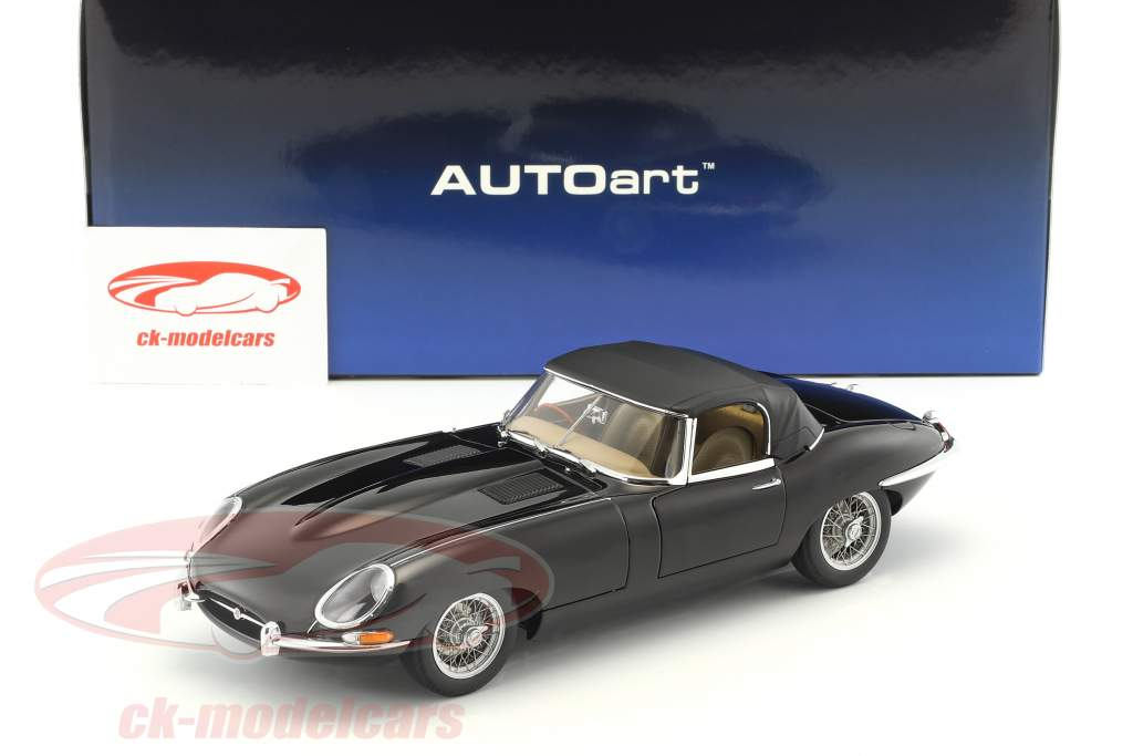 Jaguar E-Type Roadster Series I 3.8 année de construction 1961 noir 1:18 AUTOart