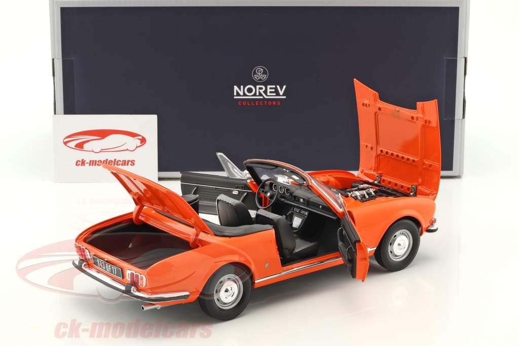 Peugeot 504 Cabriolet year 1970 orange 1:18 Norev