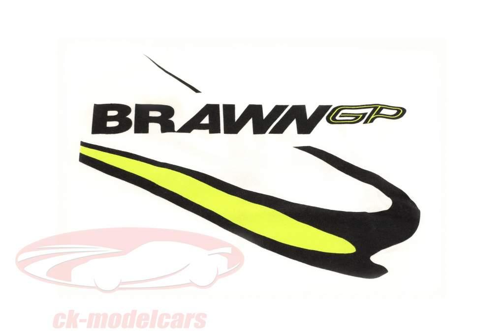 Jenson Button #22 Brawn GP formule 1 2009 T-Shirt blanc