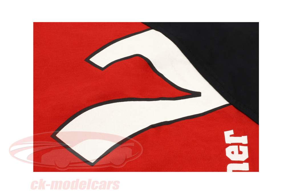 Michael Schumacher Langarmshirt Top 7 Stars rot / schwarz / weiß