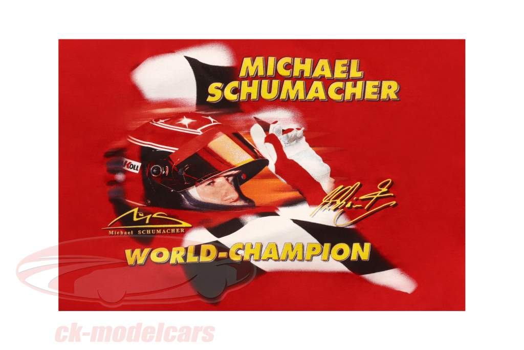 Michael Schumacher Fan-Collection T-Shirt Racing rosso
