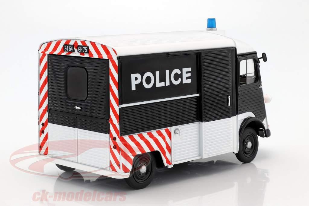 Citroen Type HY Police Baujahr 1969 schwarz / weiß / rot 1:18 Solido