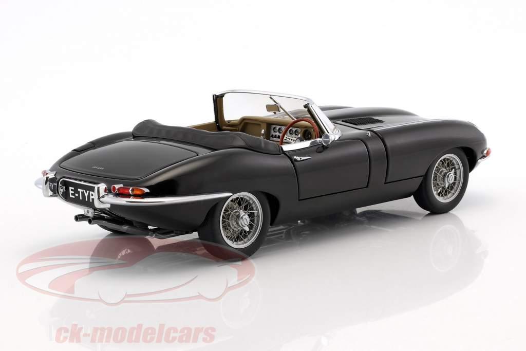 Jaguar E-Type Roadster Series I 3.8 Baujahr 1961 schwarz 1:18 AUTOart