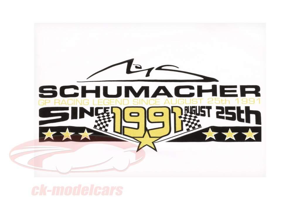 Michael Schumacher T-Shirt 25th August 1991 hvid